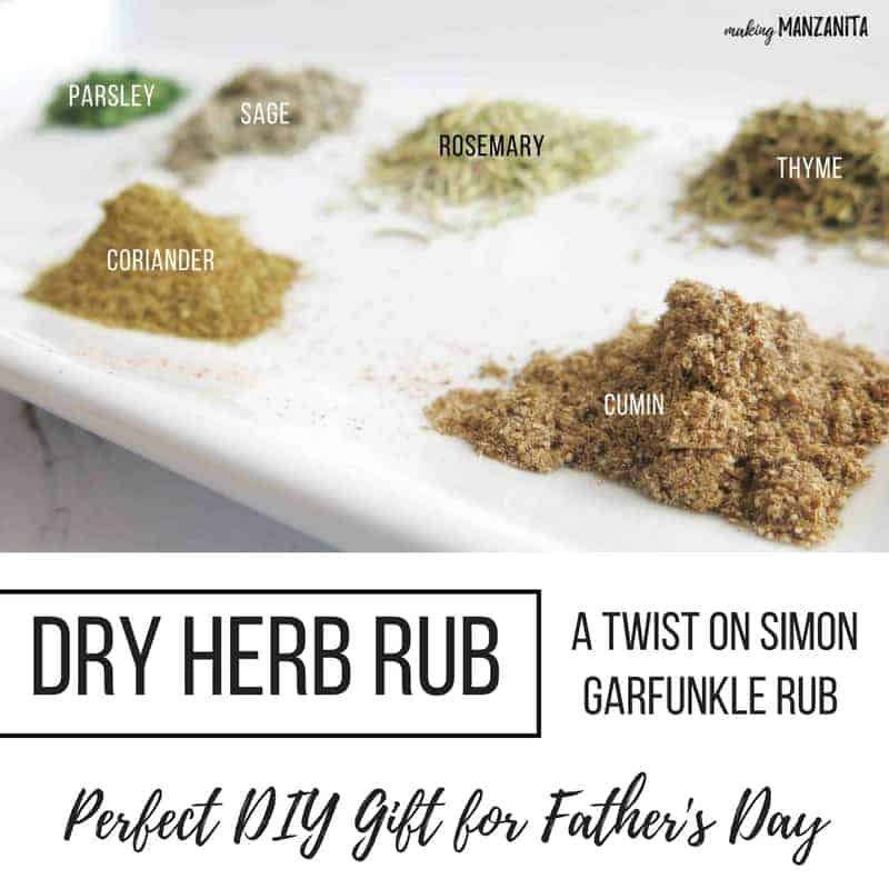 DIY Dry Herb Rub | Great on Turkey, Pork and Chicken | A Twist on Simon Garfunkle Rub | DIY Spice Rubs for Father's Day Gifts | Easy DIY gift for Father's Day