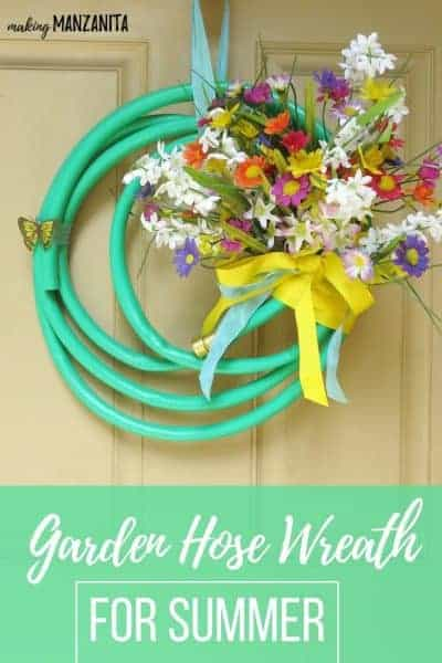 Garden Hose Wreath For Summer
