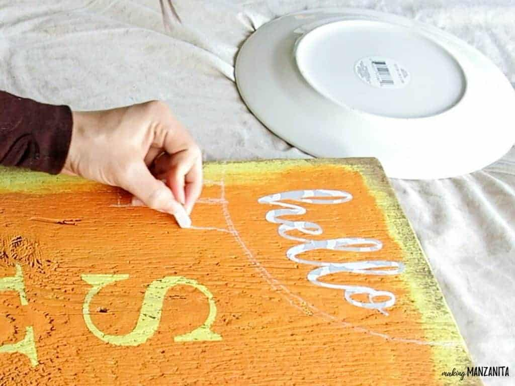 DIY Hello Sunshine Wood Sign for Spring and Summer