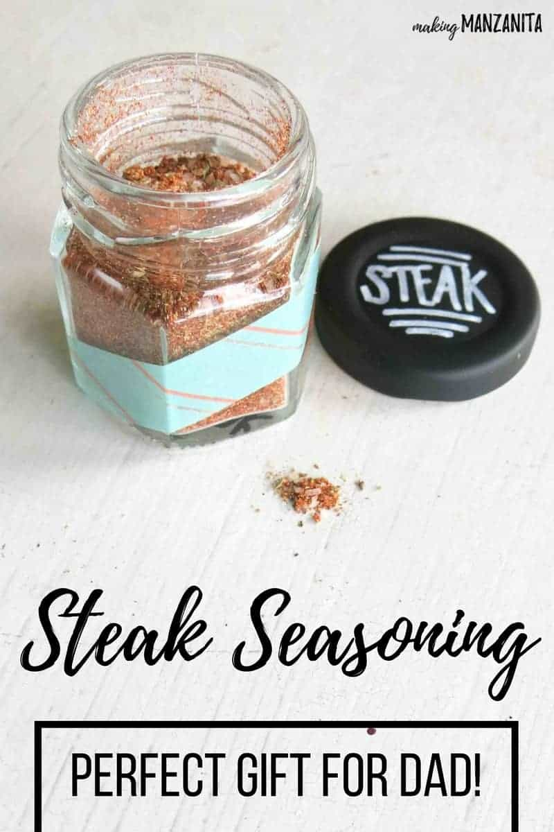 DIY Steak Seasoning | Perfect gift for dad for Father's Day | Awesome Seasoning Rub for Steak | DIY Spice Rubs for Father's Day Gifts | Decorate jars for spice rubs for Dad's Day