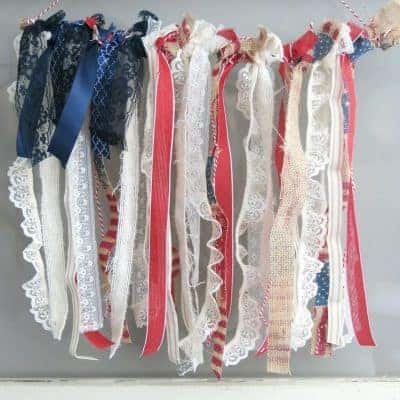 4th of July Decor: Ribbon American Flag Hanging