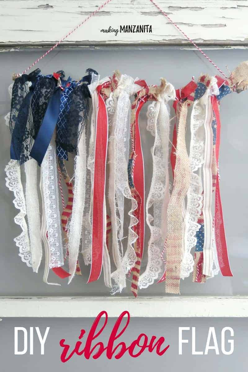 4th Of July Decor Ribbon American Flag Hanging Making