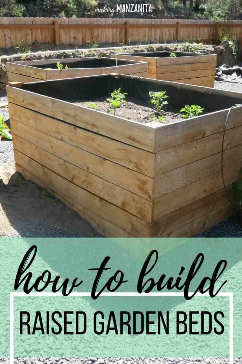 Diy Raised Garden Beds Using Cedar Boards Making Manzanita