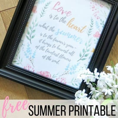 FREE Summer Printable & Giveaway