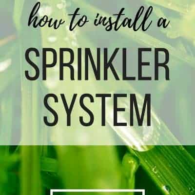 Everything You Need To Know About Installing Your Own Sprinkler System (Part 2: Installing)