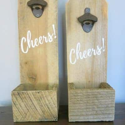 DIY Reclaimed Wood Bottle Openers – Father's Day Gift Idea