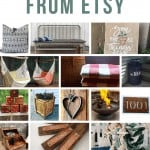 Collage of backyard decor ideas with text overlay that says outdoor decor from Etsy