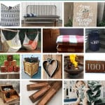 Collage of front porch decor ideas with text overlay that says outdoor decor