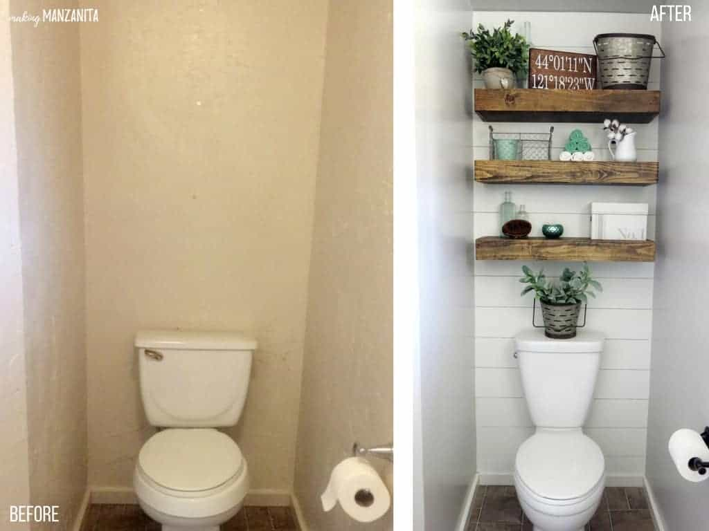 Before and After | Farmhouse Master Bathroom Reveal