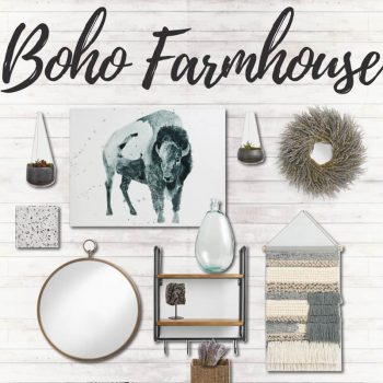 Boho Farmhouse Gallery Wall | 5 Gallery Wall Styling Tips | Design a Gallery Wall | How to make a gallery wall | Gallery wall ideas | Blending home decor styles | Blending boho style with farmhouse style | Farmhouse gallery wall | Boho Gallery Wall | Cost Plus World Market Wall Decor | World Market Gallery Wall | Gallery Wall on Shiplap | Gallery Wall Design Ideas | Wall Decor Inspiration | Wall Art Inspo | Boho Farmhouse Design Board