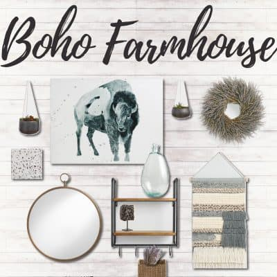 Boho Farmhouse Gallery Wall Inspiration: 5 Gallery Wall Styling Tips