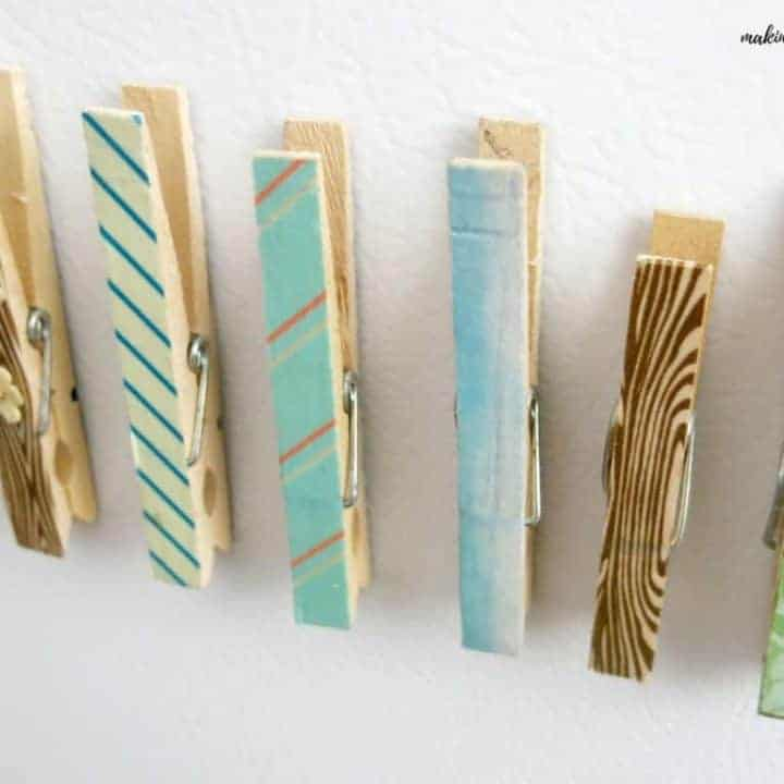 How to Make Clothespin Magnets with Washi Tape