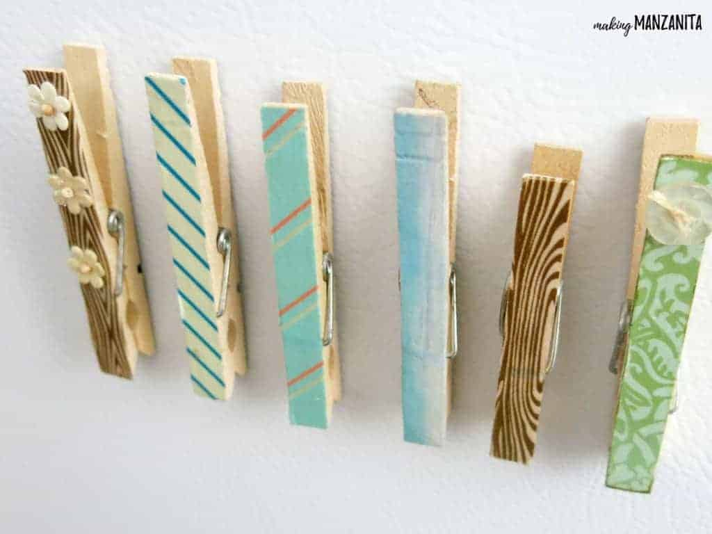Clothespin Magnets with Washi Tape | DIY Clothespin Magnets | Make a magnet with clothespin and Washi Tape | Crafts for Kids | Kid Crafts | Clothespin Crafts | Washi Tape Crafts | Washi Tape Magnets | DIY Magnets | Magnet Clips | Clips to hold photos on your fridge | Fridge Magnets | Magnets for Command Center | Cute DIY Magnet Craft | Crafts with Washi Tape | Crafts with Magnets | Quick Craft | Simple Craft