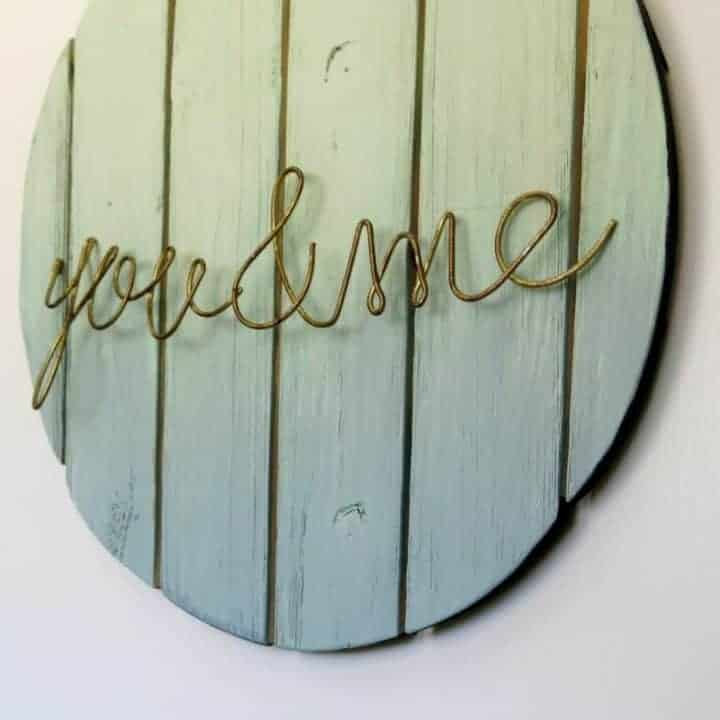 How to Make Ombre Painted Wood Sign