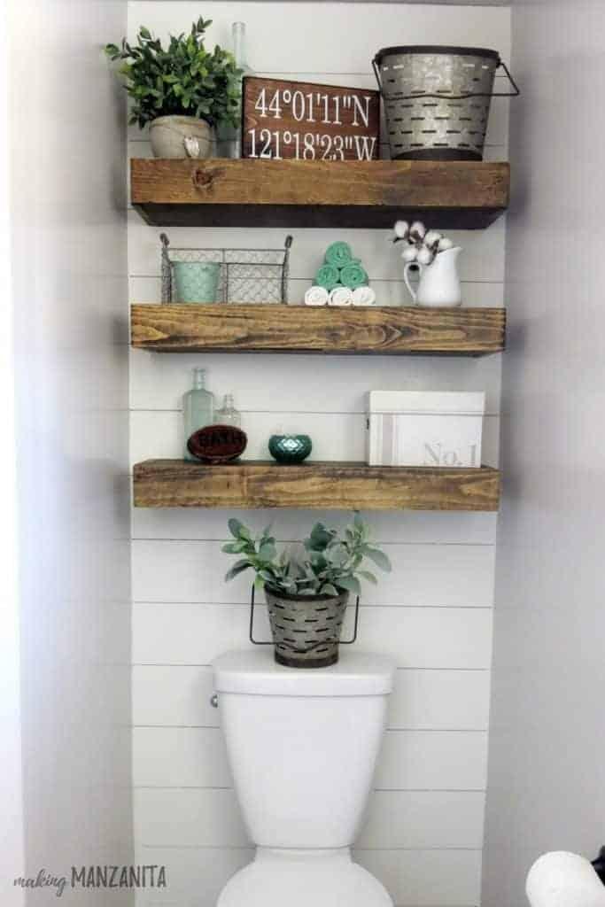 Toilet Shelves Ideas Small Spaces