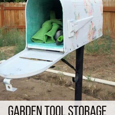 Garden Tool Storage from Old Mailbox