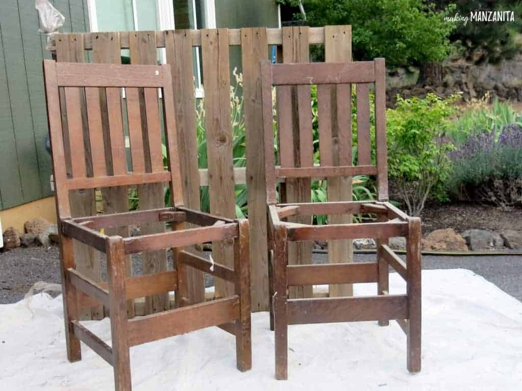 Colorful Upcycled Chair Bench For Your Backyard - Making Manzanita