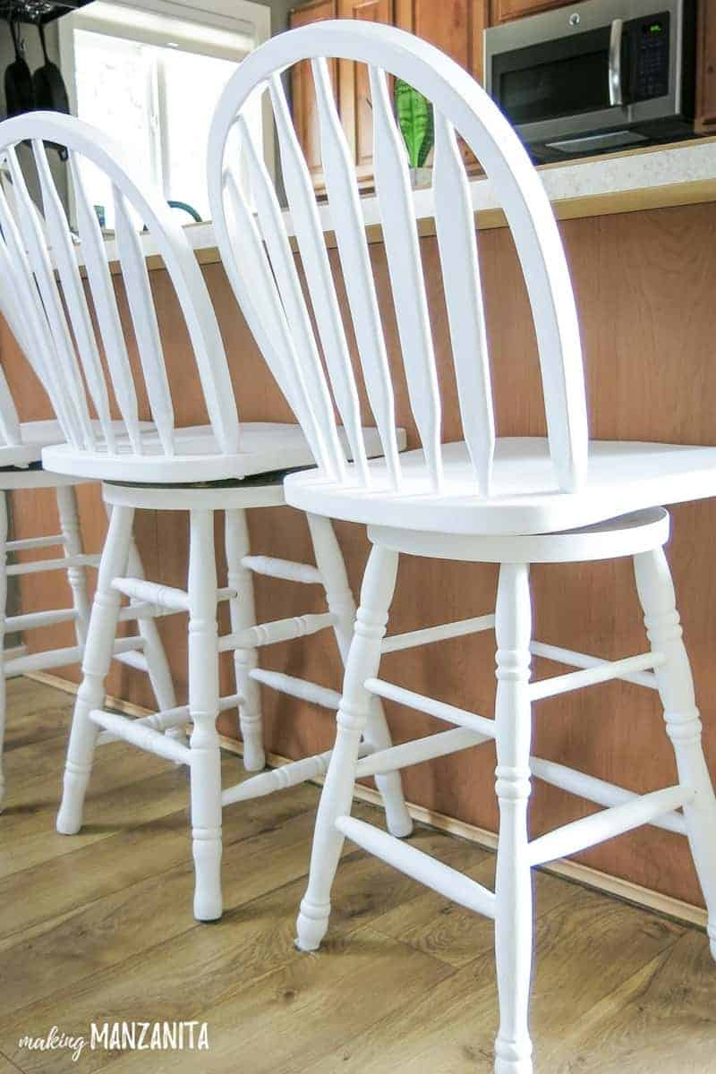 Fine How To Chalk Paint Bar Stools With General Finishes Chalk Squirreltailoven Fun Painted Chair Ideas Images Squirreltailovenorg