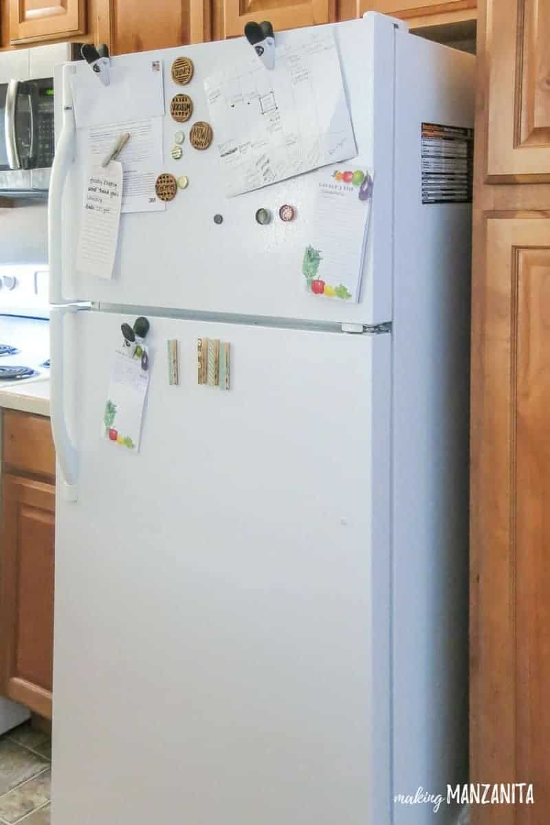 You'll be shocked when you see how this messy and clutter fridge turns into a command center to organize your enter life!