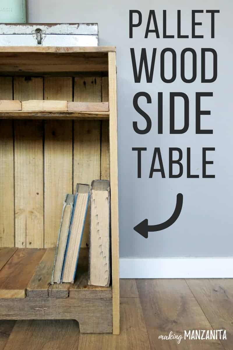 Pallet Wood Side Table With Rustic Style | DIY Pallet Furniture | Pallet Wood Night Stand | Pallet Table | Side Table Made With Pallet Planks | Making furniture with pallets | What to make with pallets | Pallet furniture | How to make furniture with pallets | Free wood table