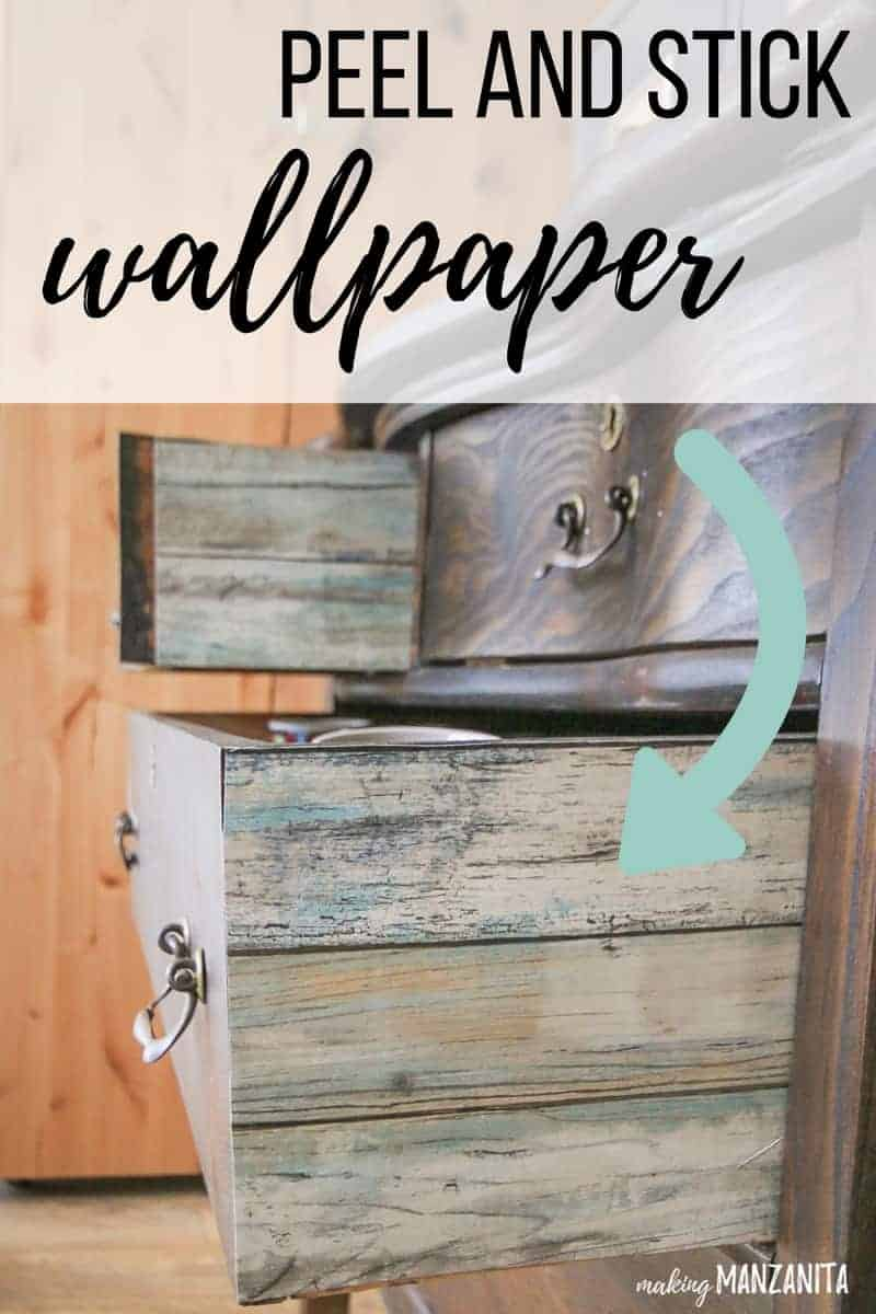 This peel and stick wallpaper was the perfect addition to the sides of our vintage dresser drawers for our coffee station. I love the pops of color we added to our boring dresser drawers with peel and stick wallpaper. If you're craving more color, consider adding peel and stick wallpaper to the sides of drawers !