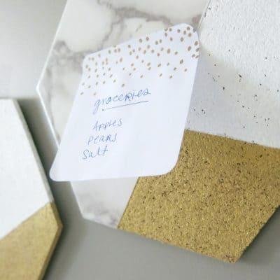 Easy DIY Hexagon Cork Memo Boards