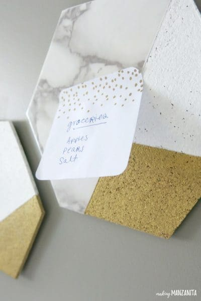 Easy DIY Hexagon Cork Memo Boards