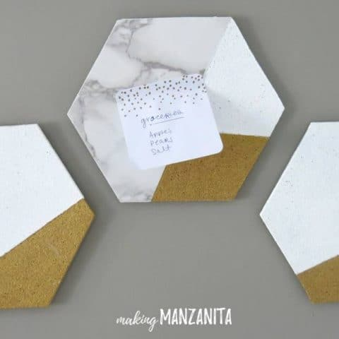 How To Make Easy DIY Hexagon Cork Memo Boards