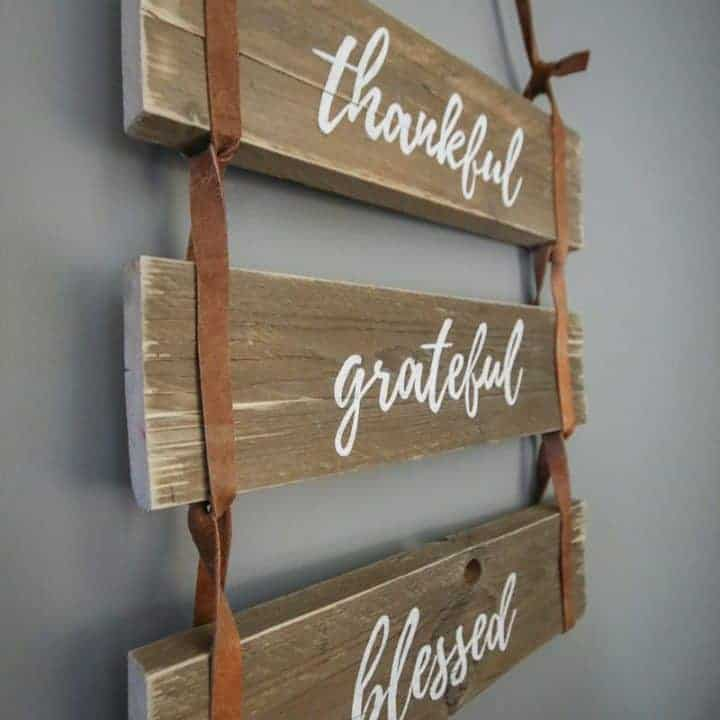 How to Make Fall Sign with Leather Strap