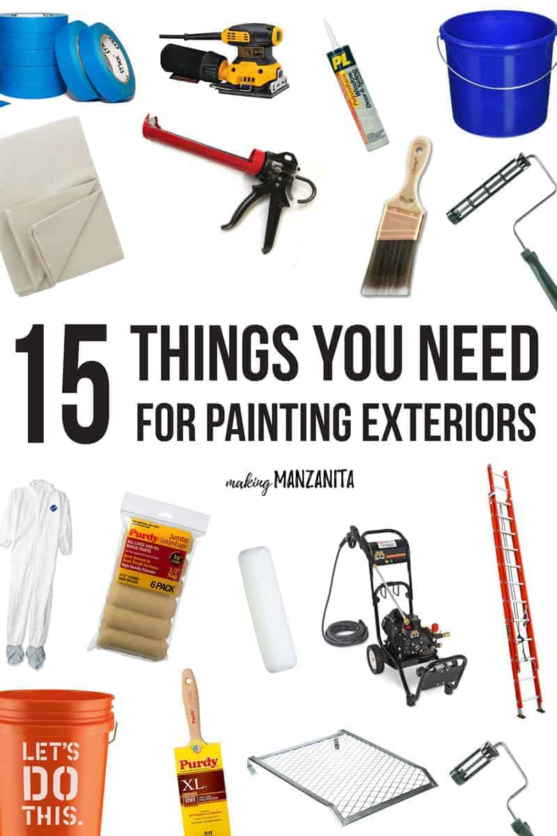15 things you need for painting exterior of house making for Home need things