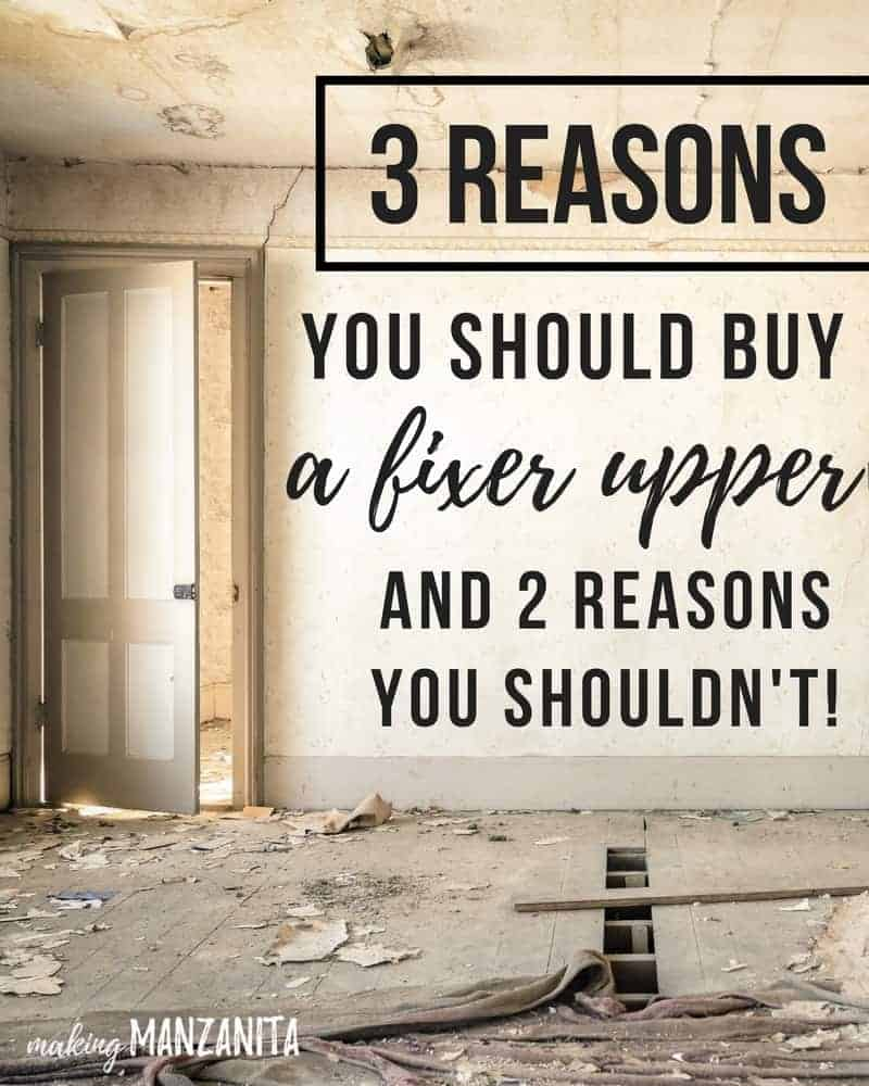 3 Reasons You Should Buy A Fixer Upper (and 2 Reasons You Shouldn't!) | Should You Buy A Fixer Upper? | Reasons To Buy A Fixer Upper | Should I Buy A Fixer Upper? | Fixer Upper First Home | Sweat Equity | Favorable Interest Rates | Reasons to buy an older home | Benefits to buying fixer upper | Fixer Upper Ideas | Should you buy a fixer upper like Joanna Gaines ? Fixer Upper Homes | Fixer Upper Tips | Renovating On A Budget | House Flipping | Old Homes |