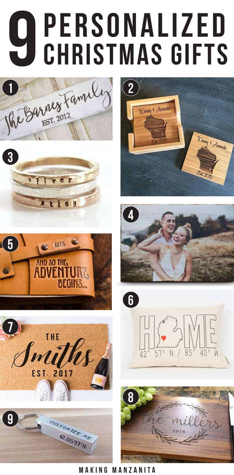 9 Awesome Personalized Christmas Gifts - Making Manzanita
