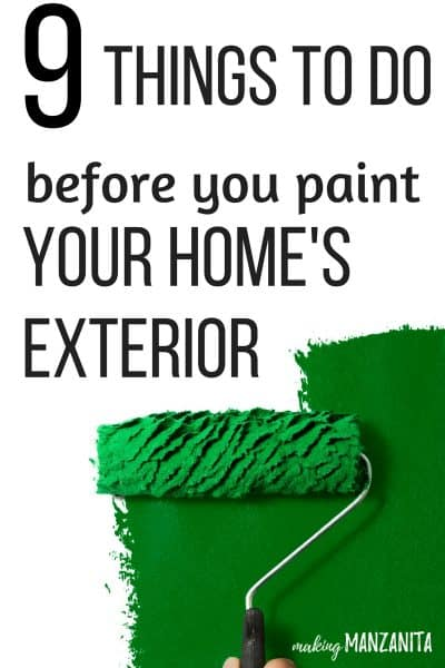 9 Things To Do Before You Paint The Exterior Of Your Home