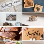 Collage of gifts with customization from Etsy with text overlay that says 16 personalized gifts