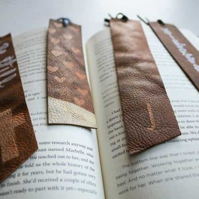 DIY Leather Bookmarks – Easy Handmade Christmas Gifts
