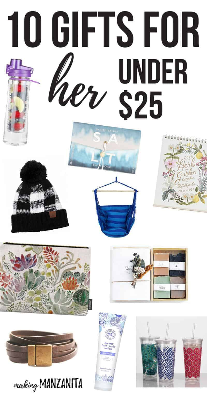 10 gifts for her under 25 making manzanita Ideas for womens christmas gifts under 25