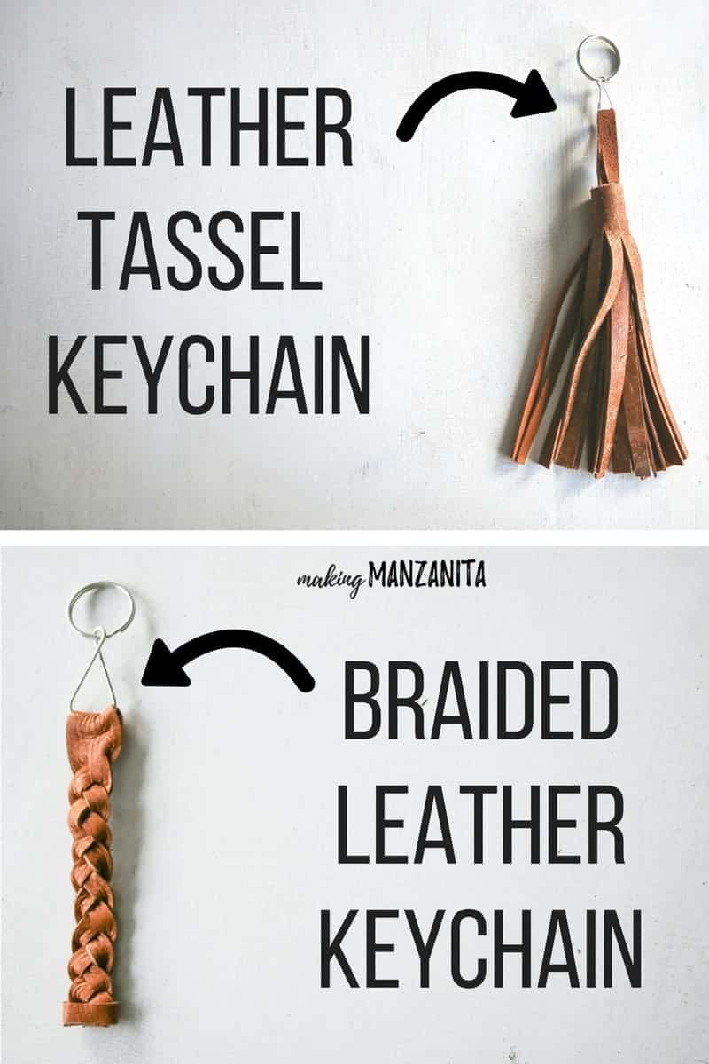 How to make a leather tassel keychain | Braided leather keychain | Tassel keychain made with scrap leather | Key chain | Boho leather tassel keychain | DIY Christmas gift | Great gift for teens | Leather fringe keychain | Unique leather craft | Key holder | Braiding leather
