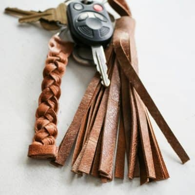 DIY Christmas Gift: Leather Keychain
