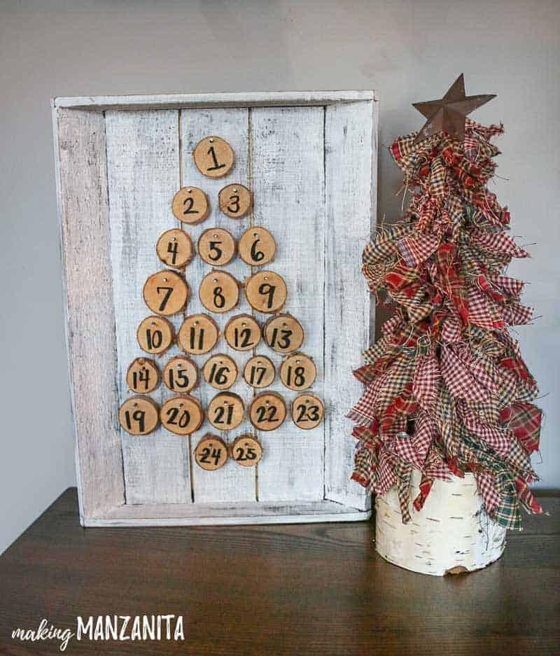 Fabric Christmas tree and Christmas advent calendar