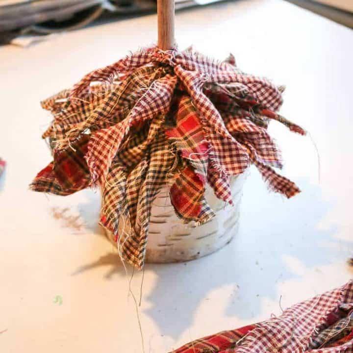 How To Make A Mini Fabric Christmas Tree