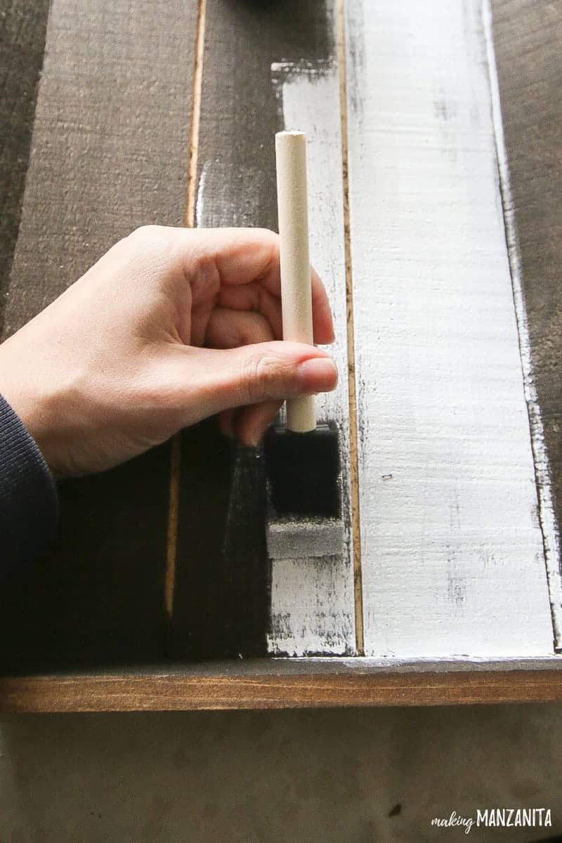 See why she is painting this tray white over the stained surface! You'll love the result!
