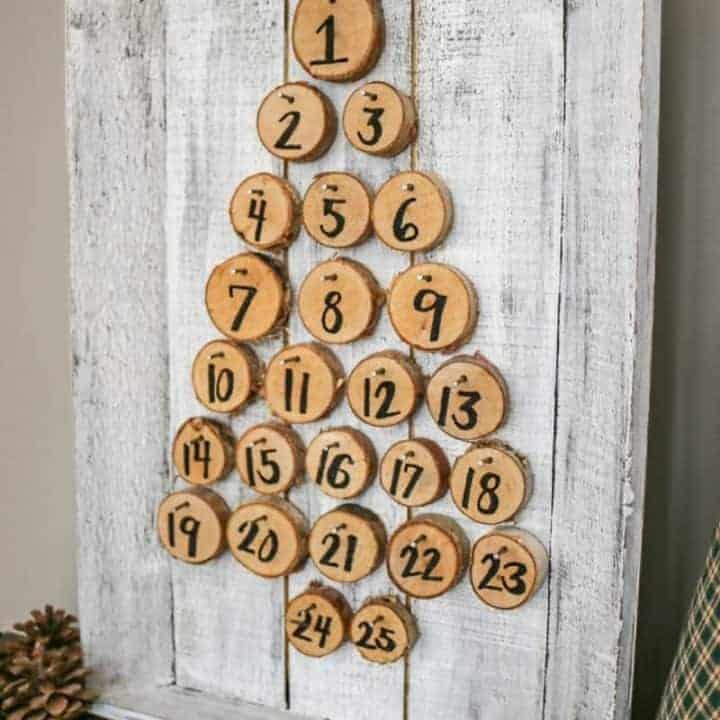 How to Make Rustic Advent Calendar