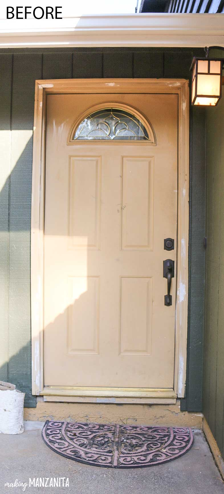 How To Paint Your Ugly Front Door To Add Instant Curb Appeal | Post  Includes Tutorial