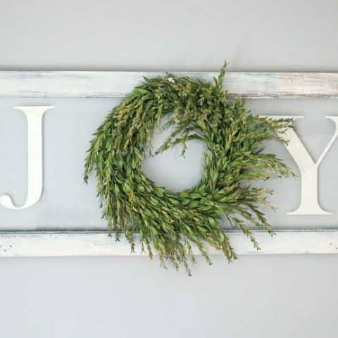 How To Make Joy Christmas Sign With Wreath