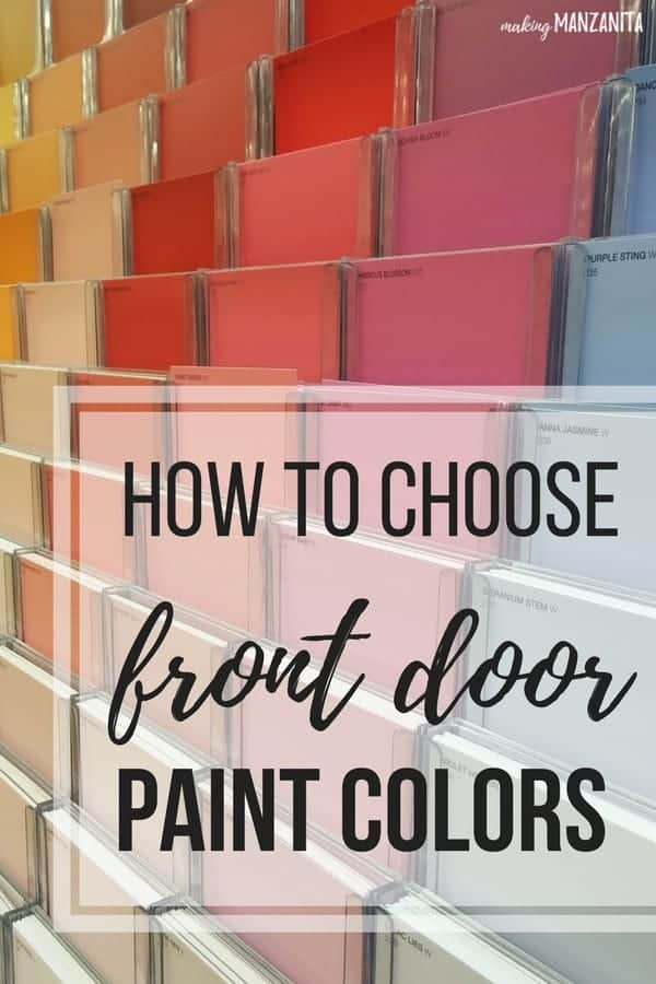 Choosing front door paint colors how to paint a door for How to pick paint colors