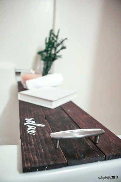 How To Make A DIY Bath Tub Tray