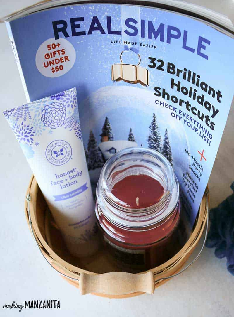 Relaxation gift basket | Stress relief gift ideas for Christmas