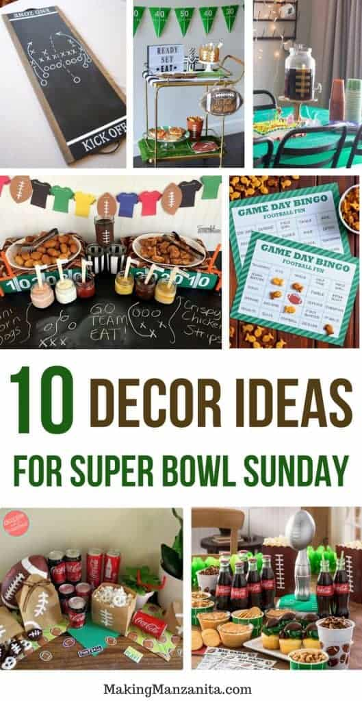 Ready for Super Bowl Sunday? If you're hosting a party for super bowl - here's some great ideas for super bowl decorations.