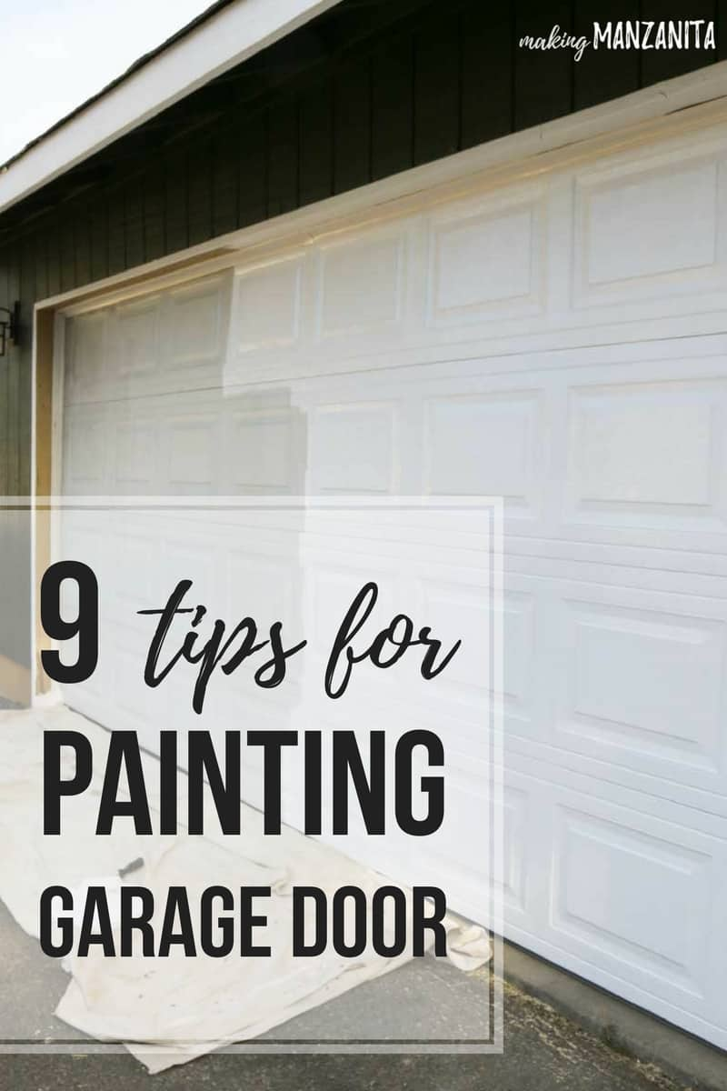 9 tips for painting garage door | Advice for painting your garage door to improve curb appeal | DIY exterior paint inspiration and ideas | How to paint garage door | White garage door