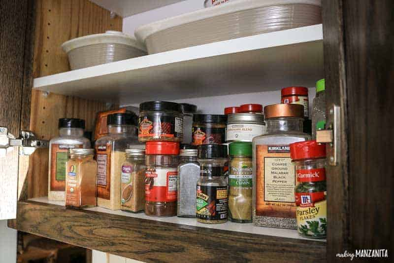 Spice cabinet makeover with World Market #ad